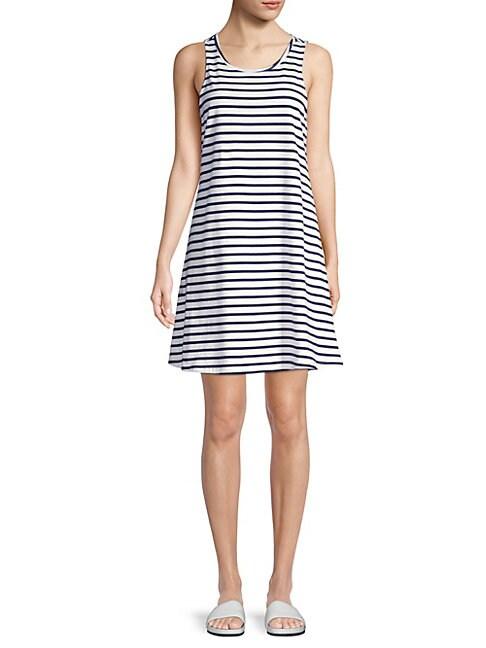 BEACH LUNCH LOUNGE   Stripe Tank Dress   Goxip