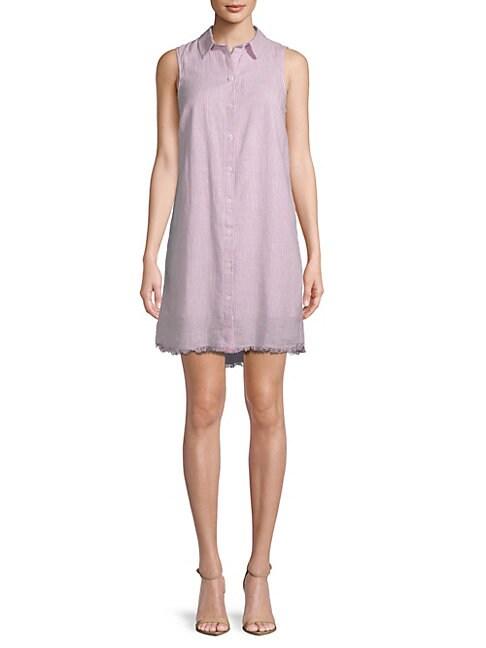 BEACH LUNCH LOUNGE | Stripe Sleeveless Shirtdress | Goxip