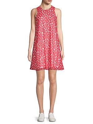 Calvin Klein Chiffon Ruffle Front Dress Saksoff5thcom