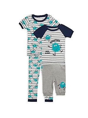 Little Boys FourPiece Monster Pajama Set