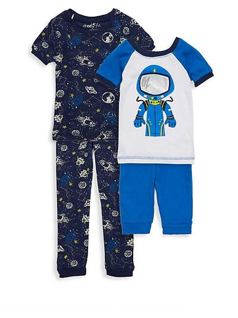 Little Boys FourPiece Space Cadet Pajama Set
