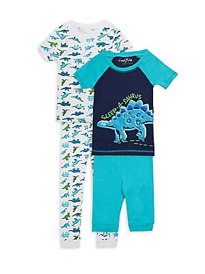 Little Boys FourPiece SleepASaurus Cotton Pajama Set