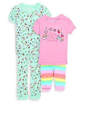 Little Girls FourPiece Dreamer Pajama Set