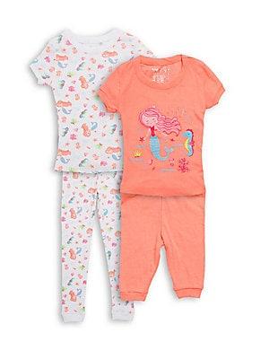 Little Girls FourPiece Sea Ya Pajama Set