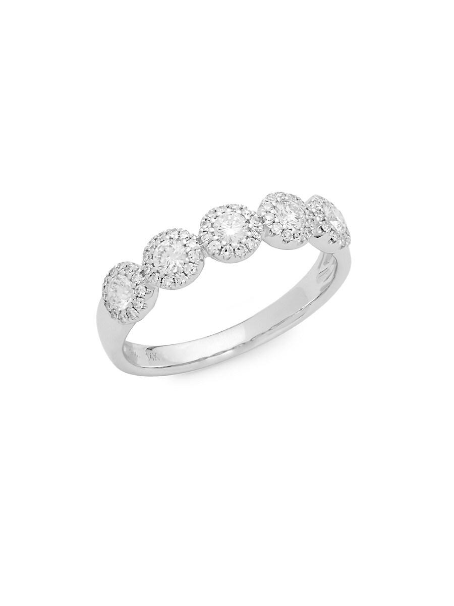 Women's Bridal 14K White Gold & 0.57 TCW Diamond Band Ring