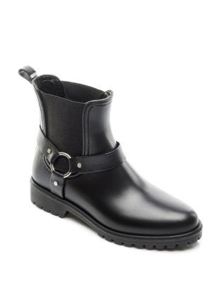 BERNARDO Zoe Rubber Rain Boots in Black
