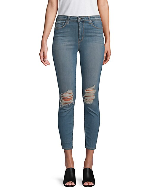 Margot Ripped Ankle Jeans