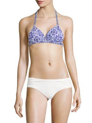 Rachel Roy Abstract-Print Bikini Top