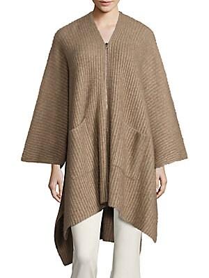 Rib-Knit Poncho
