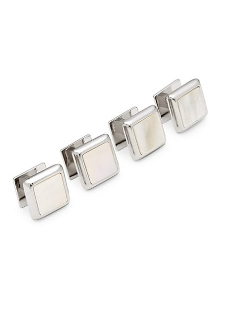 OX & BULL TRADING COMPANY | Mother-Of-Pearl and Sterling Silver Cufflinks | Goxip