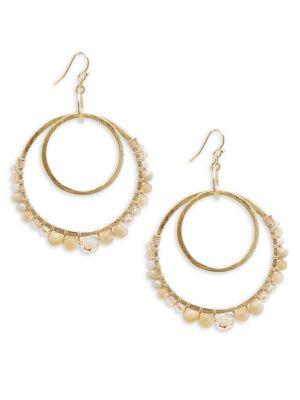 Chan Luu Multi-Stone and Sterling Silver Drop Earrings