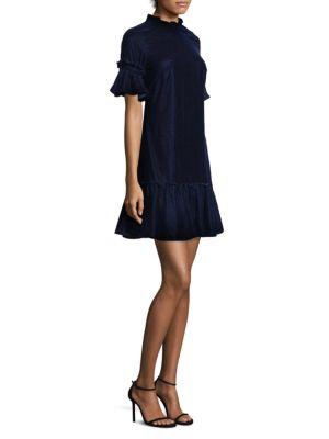 Shoshanna Velvet Shift Dress
