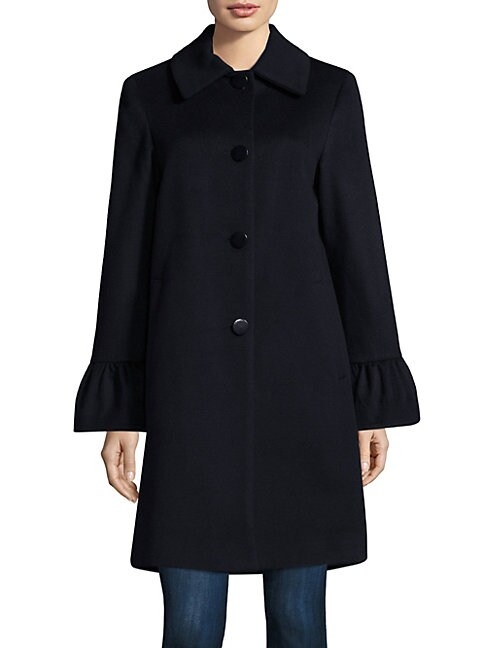 Shirred Sleeve Coat