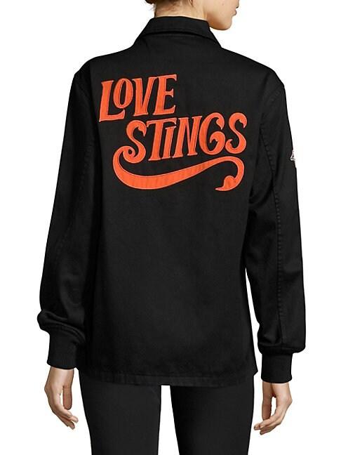 LOVE STINGS COACH COTTON JACKET