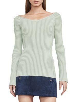 BCBGMAXAZRIA Zoee Off-The-Shoulder Sweater in Gardenia