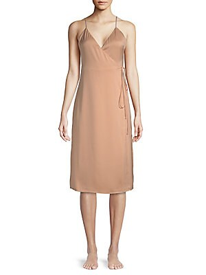 L'ACADEMIE Wrap Slip Dress in Pink