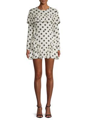 Lpa Dotted Silk Mini dress