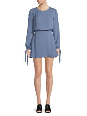 Lpa Long-Sleeve Silk Dress