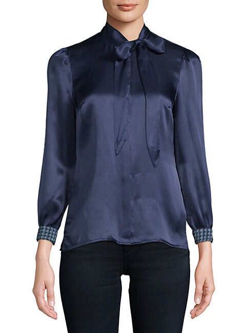 Robert Graham DARIA SILK BUTTON-DOWN SHIRT