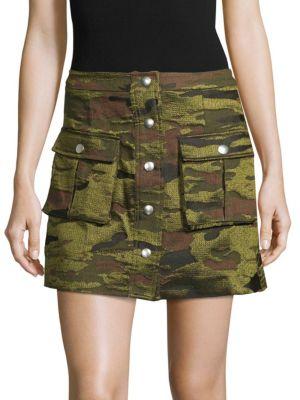 Lpa Camouflage Mini Skirt