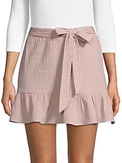 SUPPLY & DEMAND - Patrick High-Rise Cotton Mini Skirt