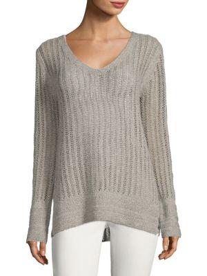 Inhabit V-Neck Pointelle Sweater
