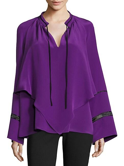 Silk Handkerchief Blouse