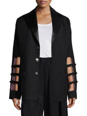 Each X Other Cutout Sleeve Wool Blazer