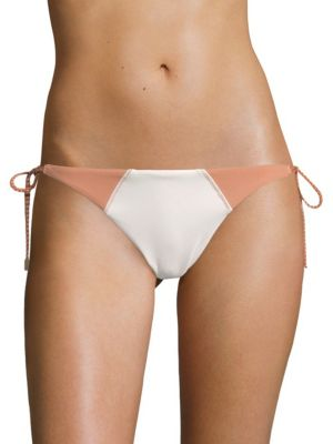 VIX SWIM Solid Betsey Side-Tie Bikini Bottom in Off White
