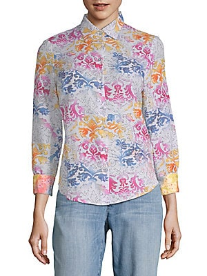 Cotton Silk Printed Shirt