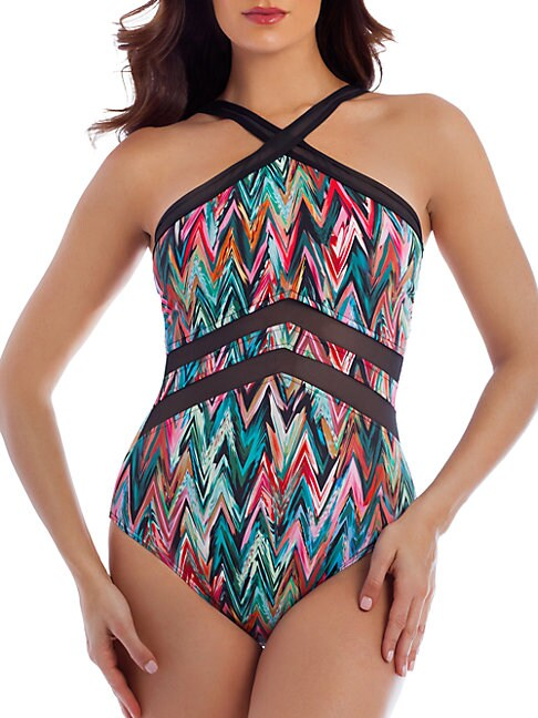 Plus Pointview One-Piece Printed Swimsuit