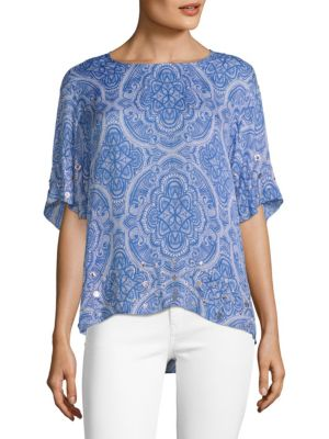 Robert Graham Clementine Woven Silk Blouse
