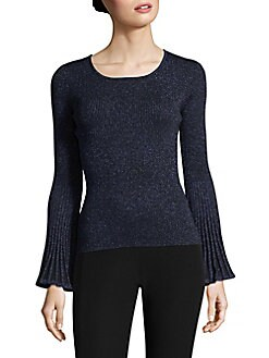 Milly - Metallic Ribbed Sweater