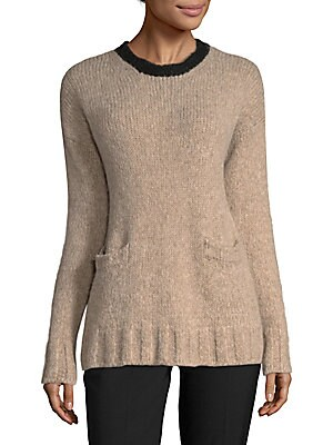 Wool Button-Back Sweater