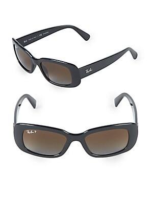 50MM Polarized Rectangle Sunglasses