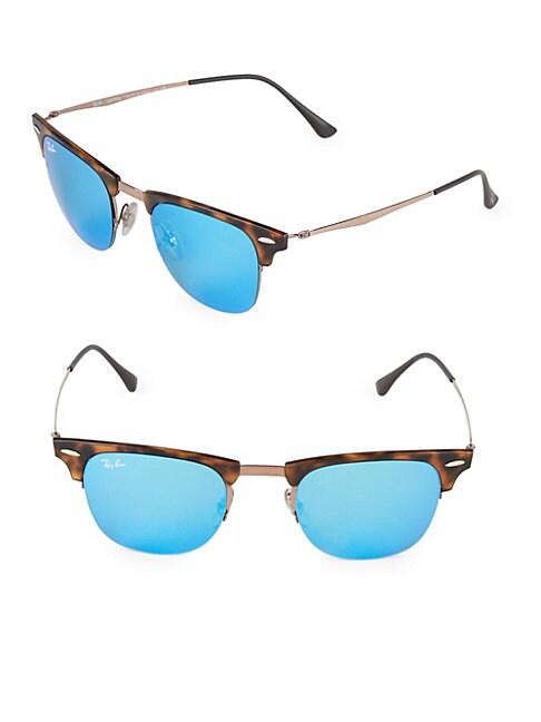 RAY-BAN | 49MM Titanium Square Sunglasses | Goxip