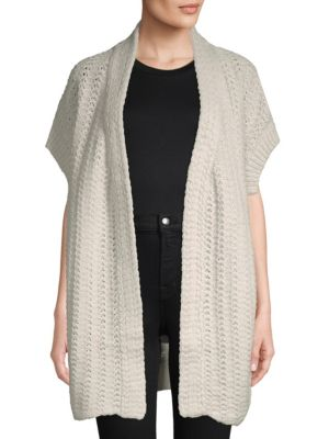 Inhabit Open Front Crochet Cardigan