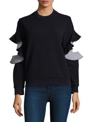 Prose & Poetry Rory Ruffled Sleeve Sweatshirt