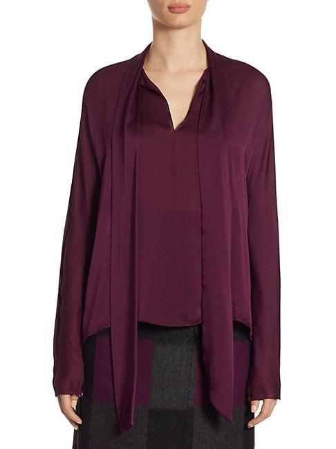 Silk Dolman Sleeve Blouse