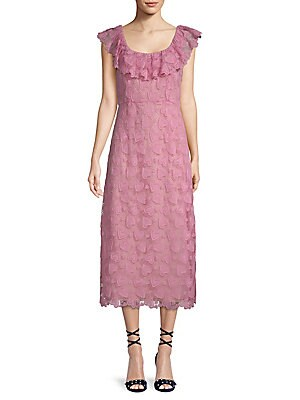 Heart Macrame Lace Midi Dress