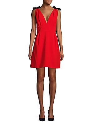 Cadi V-Neck A-Line Dress