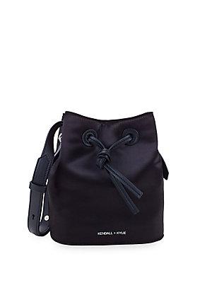 f18edec2ae4 Halston Heritage - Drawstring Suede   Leather Bucket Bag ...