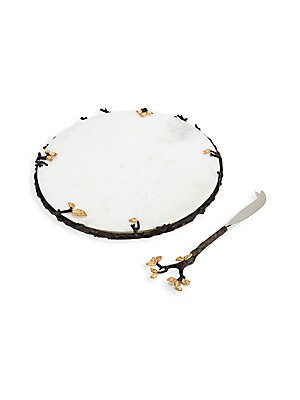 TWO-PIECE MULLBRAE CHEESE SERVING SET