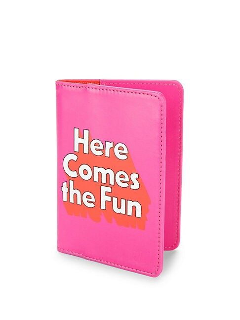 Here Comes The Fun Leather Passport Holder
