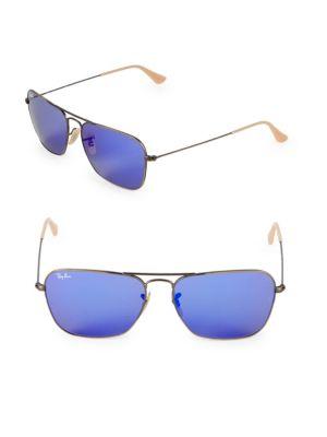 58Mm Caravan Sunglasses, Bronze