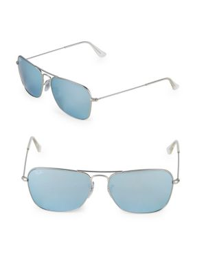 58Mm Caravan Sunglasses, Silver