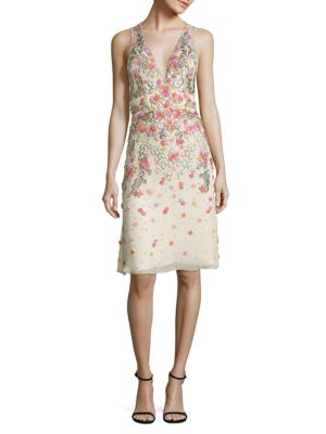 Jenny Packham SLEEVELESS EMBELLISHED DRESS
