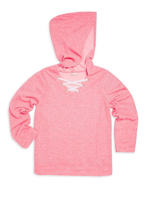 Girl's Long-Sleeve Hooded Top