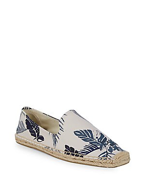Smoking Tropical-Print Slip-On Espadrilles