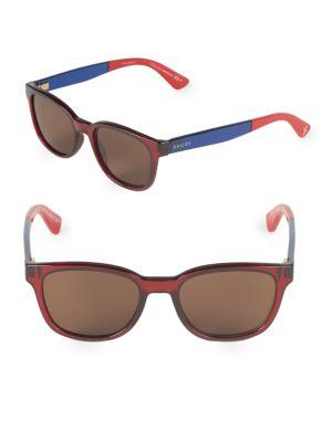 80733d0ac5 Gucci 51Mm Square Sunglasses In Red Blue